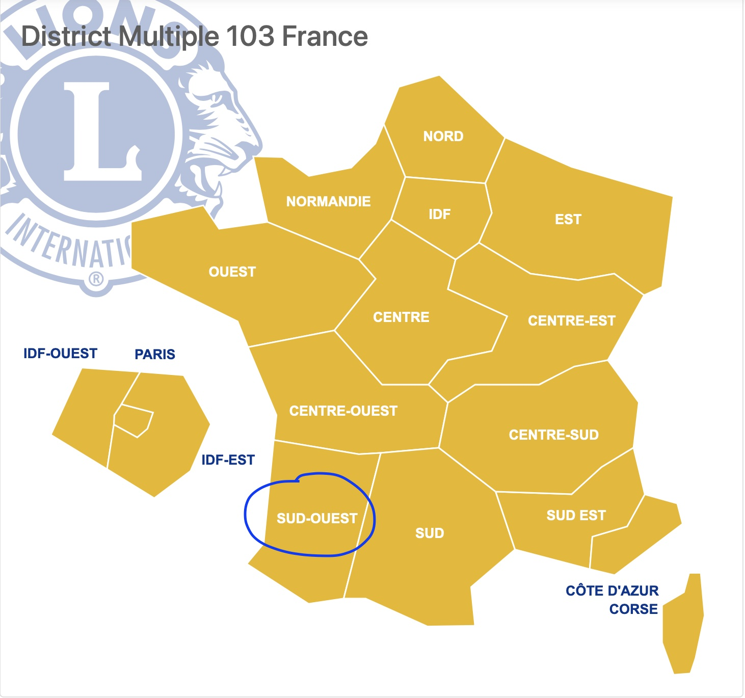 District SUD-OUEST