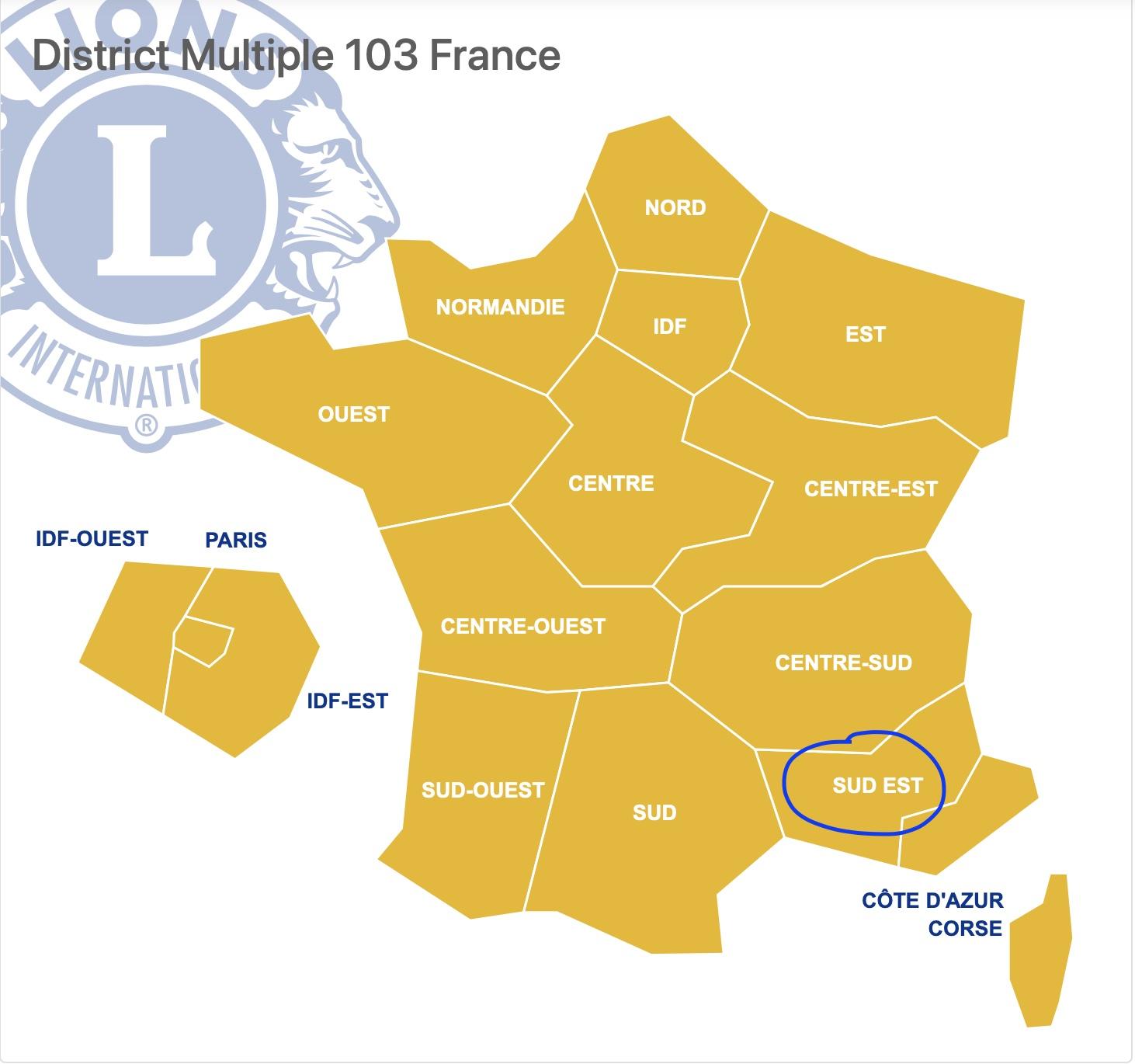 District SUD-EST